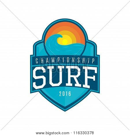 Vector Label Of Surf