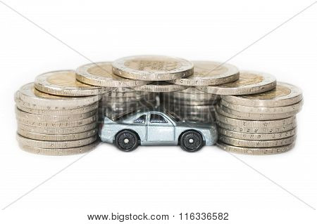 Concept of car sales or expenses