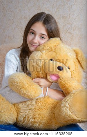 Girl And Toy