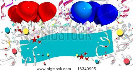 ticket with ballons