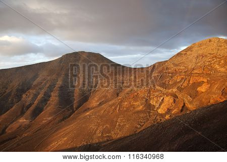 Sunrise In The Mountains At Femes, Lanzarote