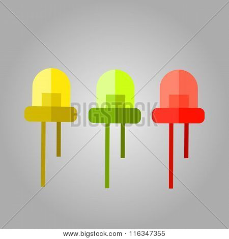 Yellow green and red LED