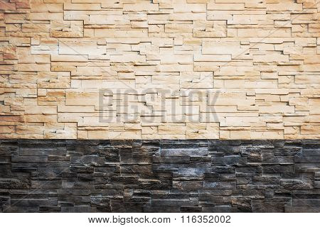 Pattern From Decorative Slate Stone Wall Surface.