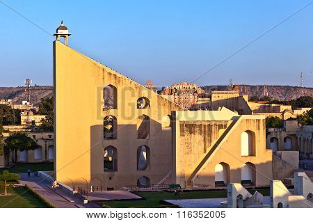 JAIPUR, INDIA - AUG 3, 2013: Astronomical instrument at Jantar Mantar observatory - Jaipur Rajasthan India - it was built by Maharajah Jay Singh