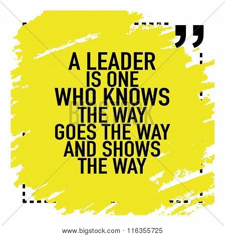 Motivational Quote Poster About Leadership