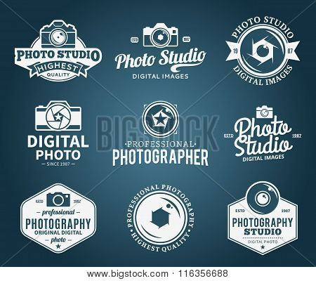 Photography Studio Logo, Labels, Icons And Design Elements