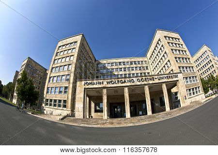 FRANKFURT, GERMANY - APR 4, 2013: famous IG farben house former used as headquarter of the US Army nowadays a dependance of University Frankfurt