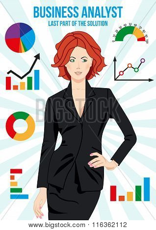 Beautiful Business Analyst Woman