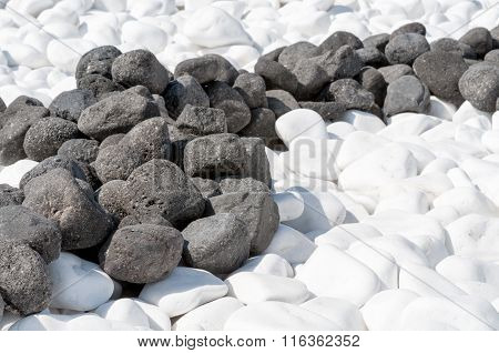 Small White And Black Pebbles