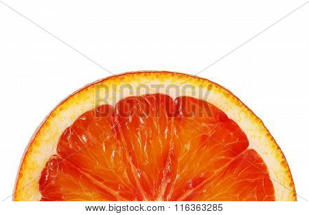 Slice Red Orange Closeup On White Background This Clipping Path.