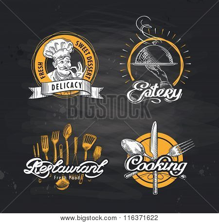 restaurant vector logo design template. cafe or eatery, diner icon