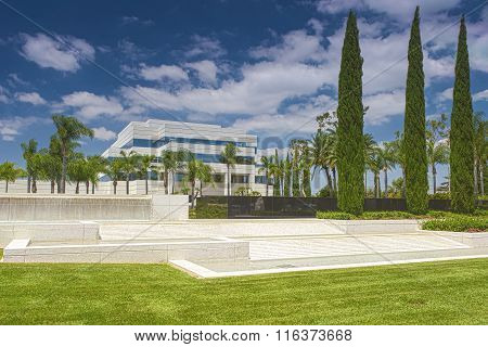 California- USA, July 17, 2014: The Crystal Cathedral Church As A Place Of Praise And Worship God In