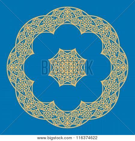 Mandala In Oriental Style. Vector Illustration