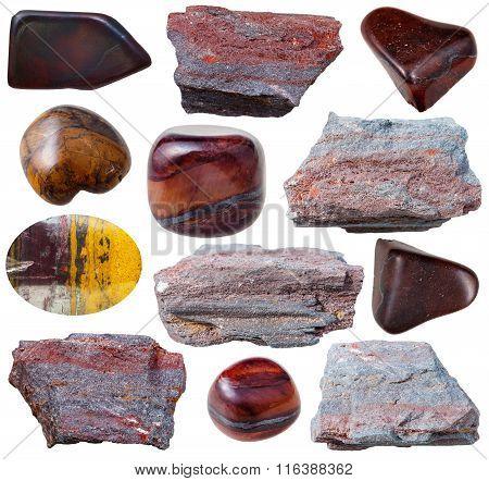 Various Ferruginous Quartzite (jaspillite) Stones