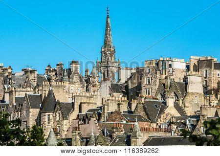 Tower of the The Tron Kirk-Edinburgh landmark