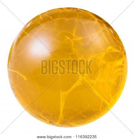 Cabochon From Yellow Fire Opal Natural Mineral Gem
