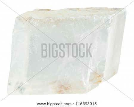 Transparent Iceland Spar Mineral Stone Isolated