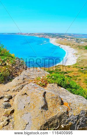 San Giovanni Coastline In Sardinia