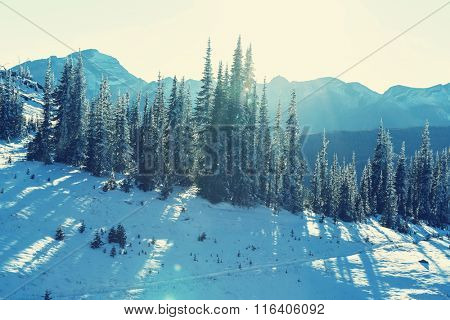Early winter in Glacier National Park, Montana, USA