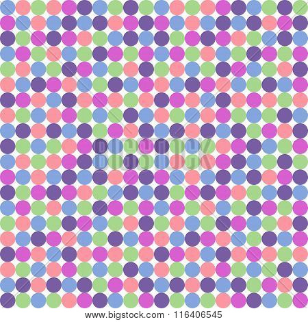 Seamless Polka Dot Pattern In Pastel Colors