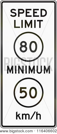 United States Mutcd Road Sign - Speed Limit