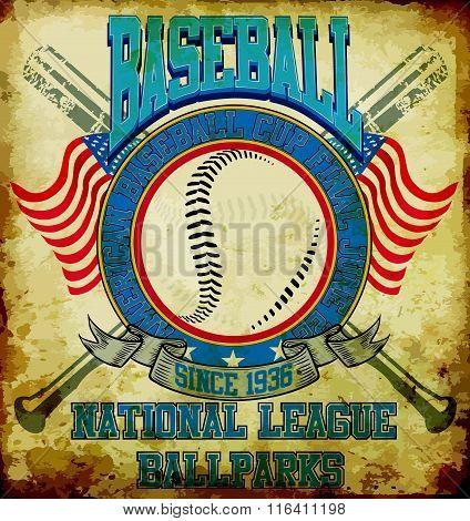 Baseball American sports Tee Graphic Design
