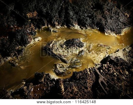 Severe groundwater pollution generated by an illegal oil mine in Java, Indonesia