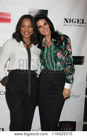 LOS ANGELES - JAN 29:  Garcelle Beauvais, Angie Harmon at the An Evening with The Woman Code Event at the City Club on January 29, 2016 in Los Angeles, CA