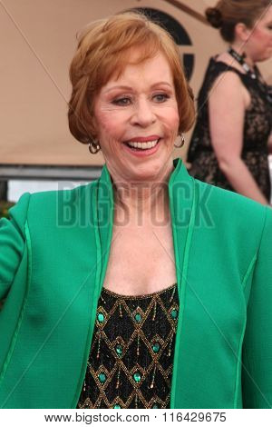 LOS ANGELES - JAN 30:  Carol Burnett at the 22nd Screen Actors Guild Awards at the Shrine Auditorium on January 30, 2016 in Los Angeles, CA