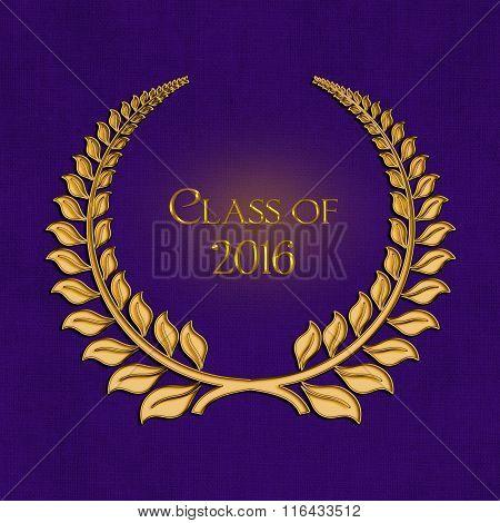 2016 graduation gold laurel