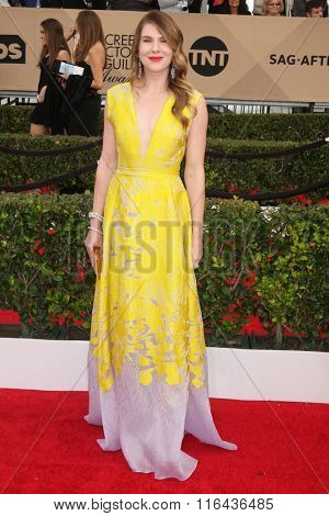 LOS ANGELES - JAN 30:  Lily Rabe at the 22nd Screen Actors Guild Awards at the Shrine Auditorium on January 30, 2016 in Los Angeles, CA