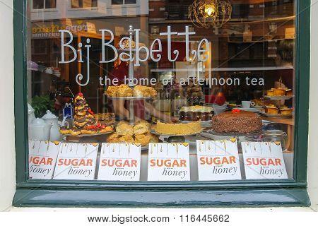 Tea Rooms Bij Babette On Kruisstraat Street In Haarlem, The Netherlands