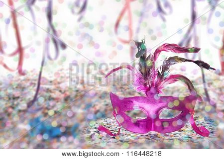 Carnival Party theme background - Mask signature