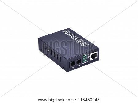 Fiber Optic Media Converter With Metalic Rj45 Connector And Sc Fiber Optic Connector
