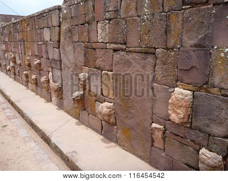 Tiwanaco Archaeological Site Next To La Paz