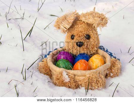 Osterhase mit Ostereiern