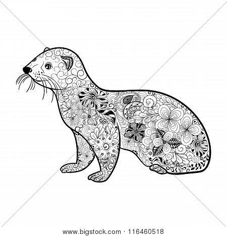 Ferret Doodle Illustration