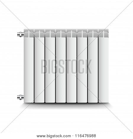 Heating Radiator Isolated On White Vector