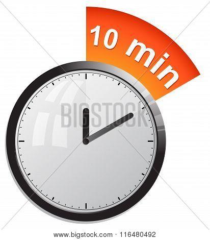 Timer 10 minutes vector illustration in eps 10 poster