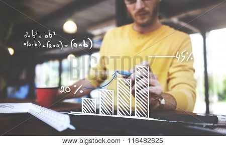 Mathematics Computation Growth Success Increase Planning Concept