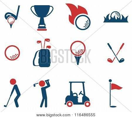 Golf simply icons
