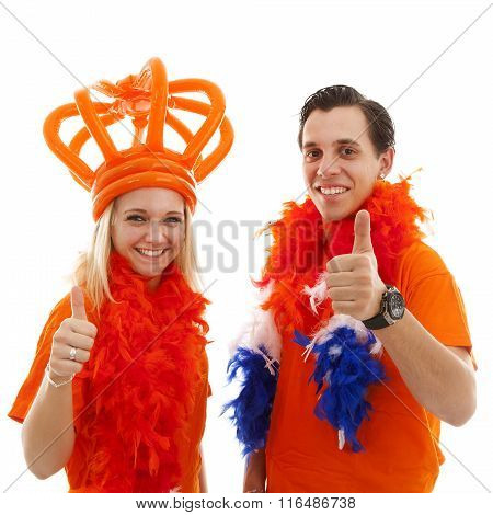 Couple Of Dutch Soccer Supporters