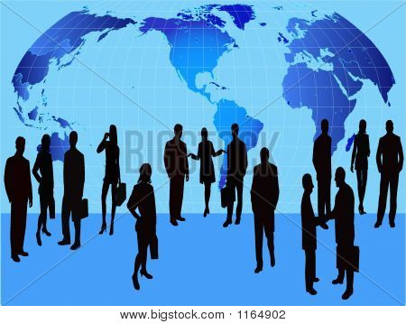 Business People - Silhouette Illustration