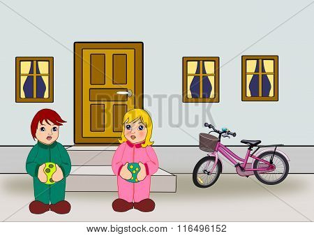 Door, Windows, Bicycle and Children