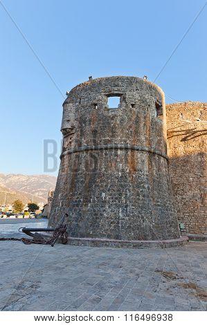 Gradenigo Tower Of Old Town Of Budva, Montenegro