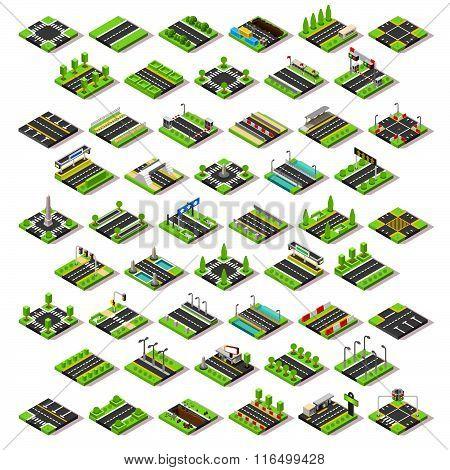 City Map Set 02 Tiles Isometric