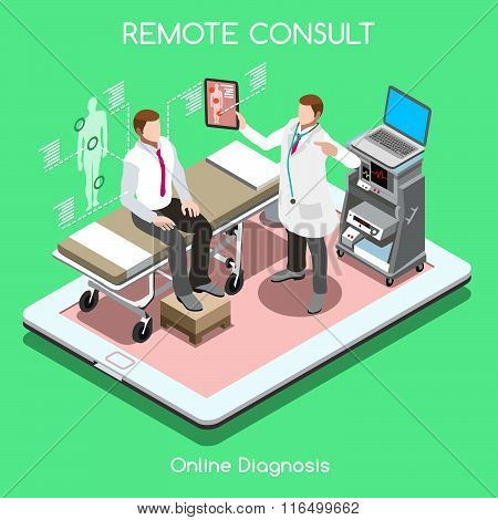Remote Doctor 01 People Isometric