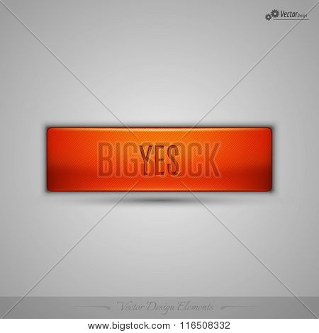 Orange Vector Web Button With Shadow On The Gay Background