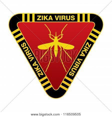 Red And Yellow Zika Virus Warning Sign