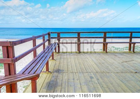 Wooden Terrace By The Sea